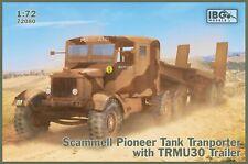 Ibg Models 1/72 Scammell Pioneer Tank Transporter With Trcu30 Trailer