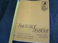 CATALOGO PARTI DI RICAMBIO ORIGINALE TRATTORE FIAT 1580 DT TRACTOR 1980 1°ED