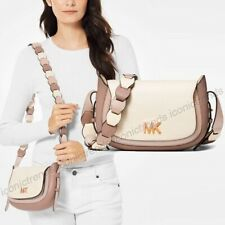 NWT 🍭 Michael Kors Jolene Leather Small Saddle Messenger Bag Soft Pink Fawn