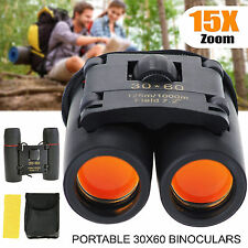 30×60 BINOCULARS 15x ZOOM BIRD WATCHING NATURE WIDE FIELD VIEW ANTI-UV FOLDABLE
