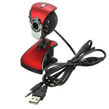 USB 50M 6 LEDs Night Vision Webcam Camera Web Cam With Mic for PC Laptop Wi I6S2