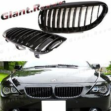 Gloss Piano Black Front Grille for BMW 04-10 E63 E64 650i 645Ci M6 Replace Cover