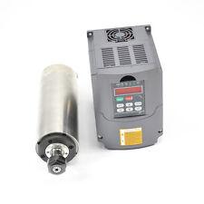 2.2KW WATER COOLED SPINDLE MOTOR ER20 & VFD INVERTER DRIVE 80MM DIAMETER CNC