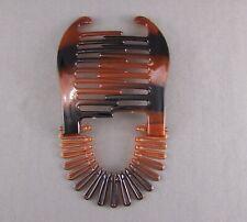 Brown Plastic Interlocking Banana Clip Hair Pony Tail Comb Flex Stretch Clincher
