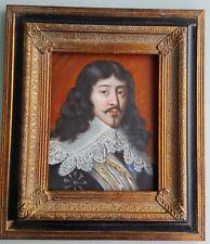 """""""PORTRAIT DE GENTILHOMME."""" belle peinture sig."""