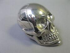 Metall Totenkopf silbern  Briefbeschwerer Skull  7cm Paperwight Schaltknauf