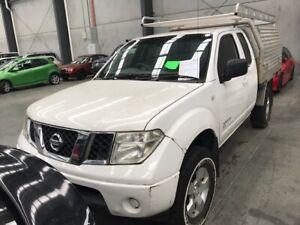 2010 White Nissan Navara Ute