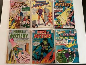 Strange adventures house of mystery of secrets Lot of 6 Silver Age DC Comics