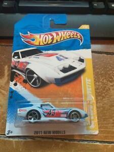 2011 Hot Wheels New Models '69 Copo Corvette #4 White