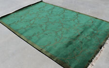 R13987 Nice Green Color Hand Crafted Tibetan Woolen Rug 6' X 9' Made In Nepal