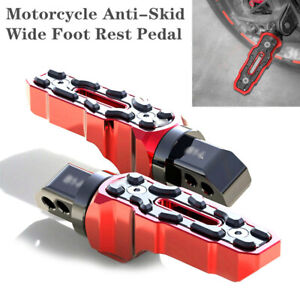 Left+Right Motorcycle Anti-Skid Widened Foot Rest Pedal Motorbike Accessories