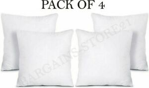 Pack Of 4 Extra Filled Inner Cushion Pad Inserts Fillers Scatters All Sizes