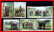 VIETNAM 1987 ANIMALS = ELEPHANTS cto/USED VF IMPERFORATED