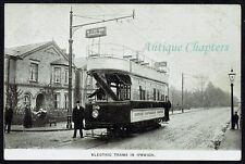 More details for 1903 electric tram ipswich corporation tramways via stoke bridge postcard c218