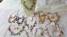 Joblot of 29 Round beads design Charm Necklace&Earring sets NEW Wholesale lot B