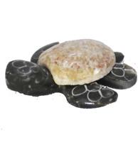 "Hand Carved Marble Stone Sea Turtle Figure 2"" Long Random Color Unique 1 One"