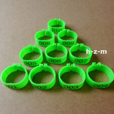 Green Chicken Leg Bands 18mm Chicken Rings  001-100 Numbered