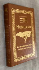 Homeland,George Obama,Easton,VG,Leatherbound,2010,Signed First Edition