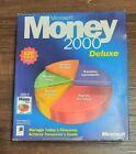 Microsoft Money 2000 Deluxe Version for Windows Financial Software CD Open Box