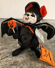 "ANNALEE 6"" Halloween Trick Or Treat Costume Bat Mouse Figurine New"