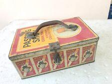 1900's hand painted vintage passing show tin box freefsix Kugel Christmas balls