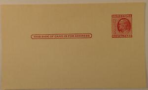 Postal Card 2 Cent Ben Benjamin Franklin Postage Red