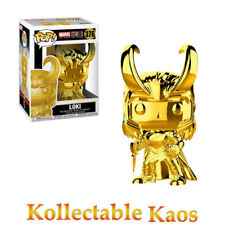Marvel Studios 10th Anniversary Loki Gold Chrome Pop Vinyl Figure Funko #376