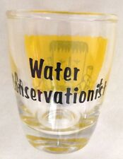 "Clear 2 1/4"" Humor Water Conservationist Shot Glass"