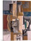 ARTCANVAS Guitar and Violin 1912 Canvas Art Print by Pablo Picasso