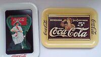 Coca-Cola Mini Trays Soda Drink 1907 & 1919 Advertisement Antique 89,95 Vintage