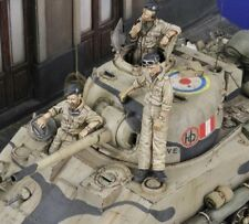 1/35 Scale Resin Model Figures Kit WW2 British Tank Crew (3 Figures)