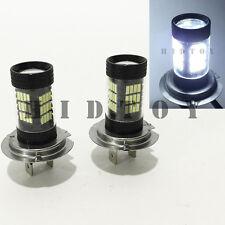 H7 Samsung LED 57-SMD Canbus Bright White 6000K Headlight 2x Bulb #Gd8 High Beam