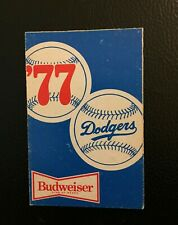 LOS ANGELES DODGERS 1977 SEASON SCHEDULE BUDWEISER BEER POCKET SCHEDULE
