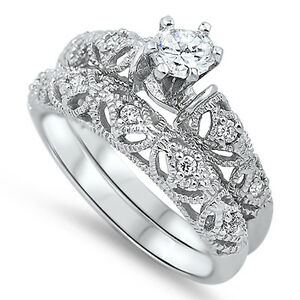 Sterling Silver .925 Rings~ 4mm Filigree Polished Sizes 3.5-9.5