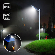 1000LM LED Solar Street Light Dusk to Dawn Sensor Outdoor Waterproof with Remote