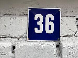 Number 36 Vintage Enamel House Numbers Made in Europe House Number Room Hotel