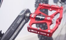 SMS Road BMX MTB Bike Bicycle 3 sealed Bearings Pedals flat Platform Pedal Red