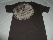 George Strait King Of Country 2012 Tour Concert Shirt Brown Mens Tee Size M