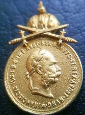 ✚6922✚ Austria Hungary Signum Laudis Military Merit Medal bronze MINIATURE SWORD