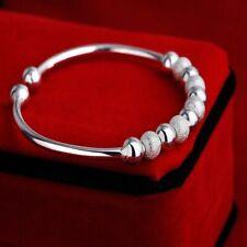 New Bracelet Round Beads Stretch Stainless Bangle Steel Women Jewelry Cuff Gift