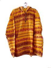 Indian Hippie Gypsy Zipper Men Hemp Jacket Baja Hoodie Cotton Acrylic Sweat