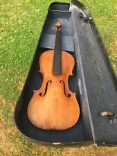 Old Violin Restoration Project With Case