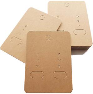 Jewellery Display Cards Earring Kraft Brown Light Mocha Plain 6.7-7cm x 5cm