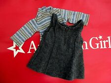 American Girl GOTY Retired Doll Clothes Outfit #3 Gray Flannel Jumper Shirt Set