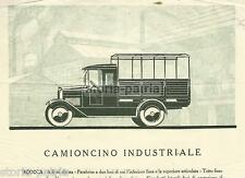 CAMIONCINO INDUSTRIALE_FIAT 507 F_ANTICA E RARA STAMPA PUBBLICITARIA_DEPLIANT