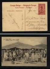 Belgian Congo postal card used native market Ms1120