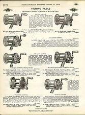 1910 ADVERT Diamond Brand Minnepip St. Louis Baspik Fishing Reel Jeweled Agate