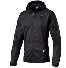 Puma Men's Running Jacket Lightweight Full Zip Jacket - Black - New