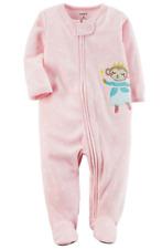 Carter's Baby Girl Fleece Footed Pajamas Monkey (NWT)