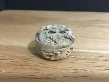 Miniature Soapstone Pot With Lid